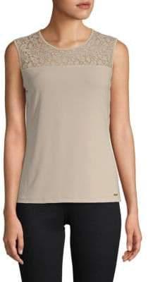 Calvin Klein Embroidered Sleeveless Top