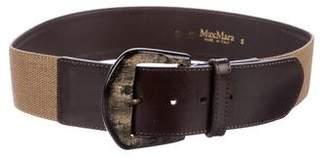 Max Mara Woven Waist Belt