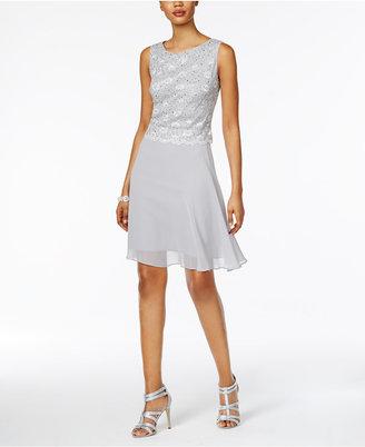 Connected Lace A-Line Dress $89 thestylecure.com