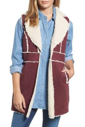 KUT from the Kloth Bridget Faux Shearling Vest