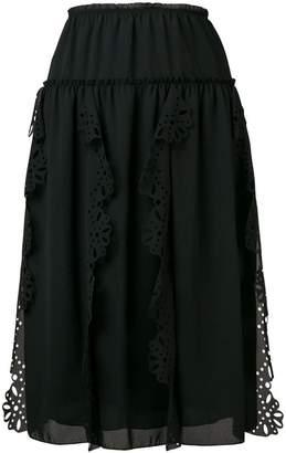 See by Chloe loose crocheted skirt