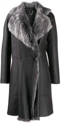 Desa 1972 fur collar coat