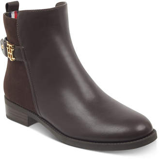 Tommy Hilfiger Women Irsela Zip Booties, Women Shoes