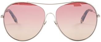 Victoria Beckham Purple Metal Sunglasses