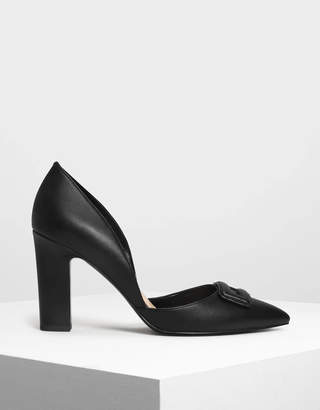Charles & Keith Wrapped Buckle Detail Pumps