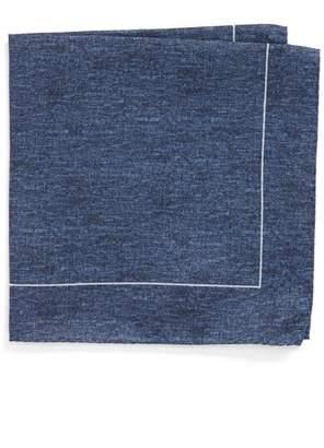 BOSS Denim Print Silk Pocket Square