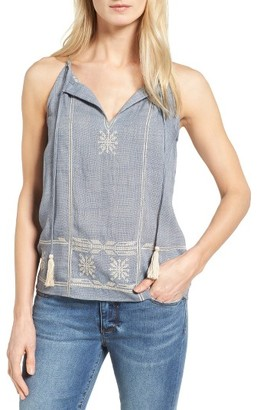 Women's Thml Embroidered Split Neck Halter Top $79 thestylecure.com