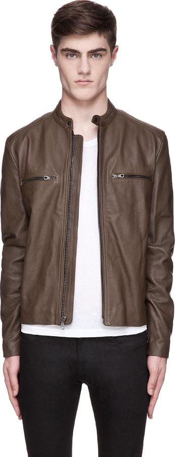 Rag and Bone Rag & Bone Olive Leather Benson Jacket