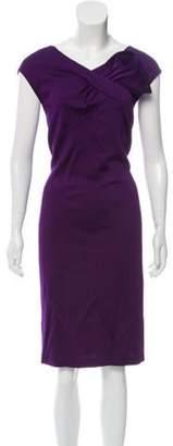 St. John V-Neck Sleeveless dress Purple V-Neck Sleeveless dress