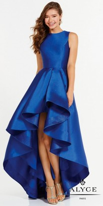 Alyce Paris Mikado High-low Flared Prom Dress $250 thestylecure.com