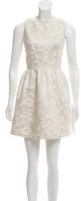 Alice + Olivia Metallic Mini Dress Metallic Mini Dress