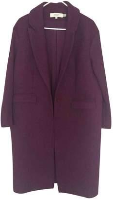 Cameo Purple Wool Coat for Women