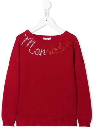 MonnaLisa studded logo sweater