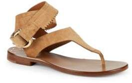 Frye Halle Ring Fringe Leather Thong Sandals