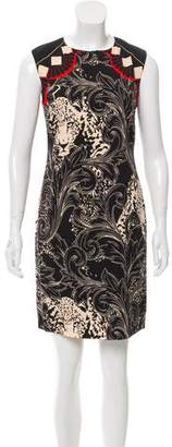 Nicole Miller Sleeveless Printed Dress w/ Tags