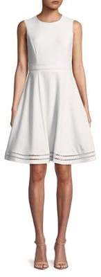 Calvin Klein Eyelet Stripe Fit-&-Flare Dress
