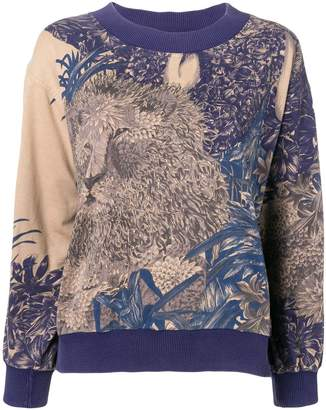 Salvatore Ferragamo Pre-Owned 1980's lion print sweatshirt