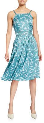 Club Monaco Josefienahh Floral-Print Sleeveless Silk Dress