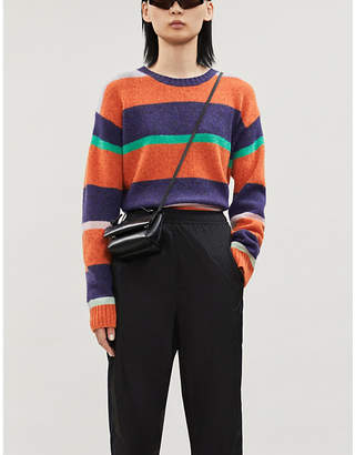 Acne Studios Boat-neck striped wool jumper