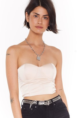 4f3b4d7e33c Nasty Gal Straight From the Boudior Satin Bra Top