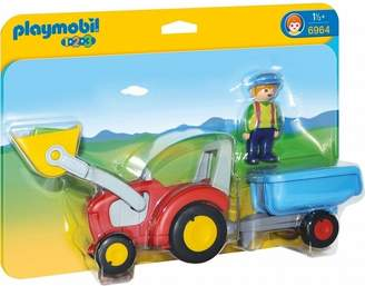 Next Boys Playmobil 6964 1.2.3 Tractor With Trailer
