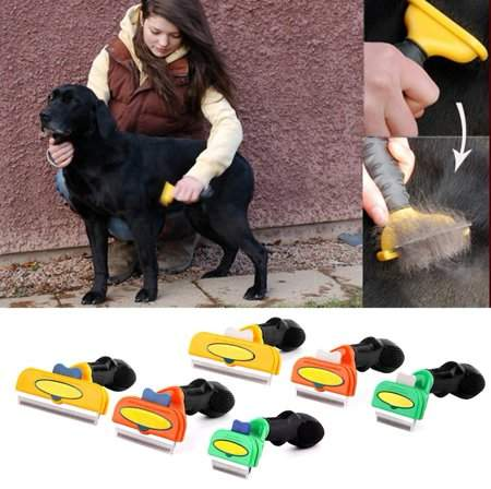 OUTAD Pet Comb Hair Tool Long Short Grooming Brush Comb For Small Medium&Large Dogs Cats Without Cutting or Damaging the Skin