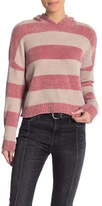 Romeo & Juliet Couture Striped Chenille Hoodie Sweater