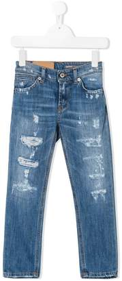 Dondup Kids distressed slim-fit jeans