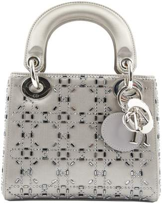 Dior Lady Silver Cloth Handbag