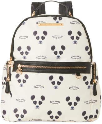 Betsey Johnson Cream & Black Panda Print Backpack