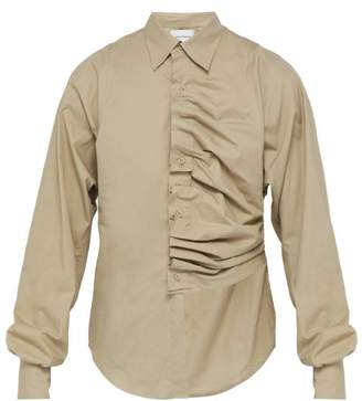 Bianca Saunders - Creased Pleat Cotton Shirt - Mens
