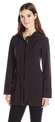 1 Madison Women's Softshell Adjustable Waist Hooded Anorak Jacket