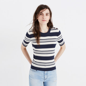 Ribbed Sweater Top in Stripe $69.50 thestylecure.com