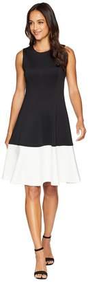 Calvin Klein Color Block Fit Flare Dress CD8M14EL Women's Dress
