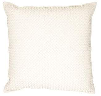 Lance Woven Leather Throw Pillow