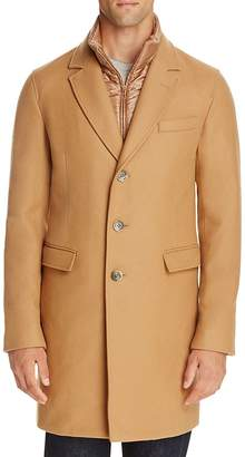 Herno Wool Blend Overcoat with Bib $1,035 thestylecure.com