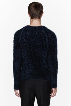 Paul Smith Navy blue mohair sweater