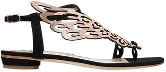 Sophia Webster 10mm Seraphina Leather & Suede Flats