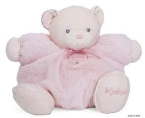 Kaloo Large Chubby Plush Pink Rattle Bear