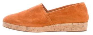 Gianvito Rossi Suede Wedge Loafers