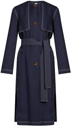 KHAITE Isadora collarless trench coat