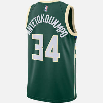 Nike Men's Milwaukee Bucks NBA Giannis Antetokounmpo Icon Edition Connected Jersey