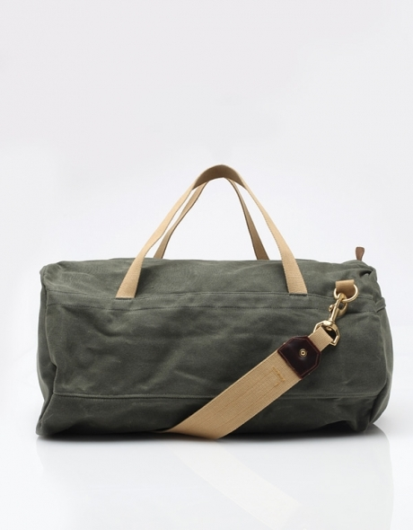 Archival Clothing Duffle Bag Olive Twill