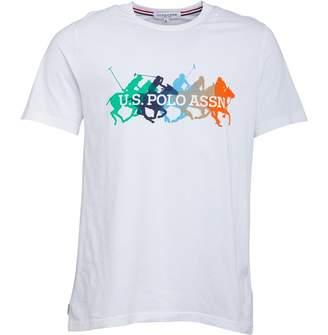 U.S. Polo Assn. Mens Silver T-Shirt White