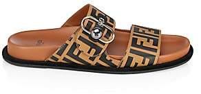 Fendi Women's Logo Slip-On Sandals
