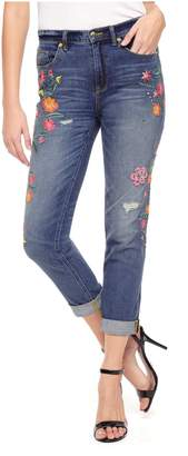 Juicy Couture Folklore Floral Embellishment Girlfriend Jean