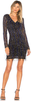 Parker Black Gia Embellished Feather Dress