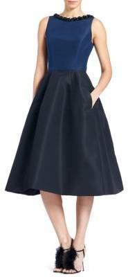 Carolina Herrera Embellished A-Line Dress