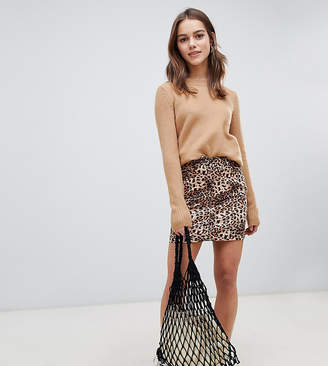 Parisian Petite leopard print skirt