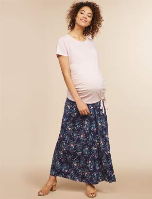 Motherhood Maternity Fold Over Belly Printed Maternity Skirt